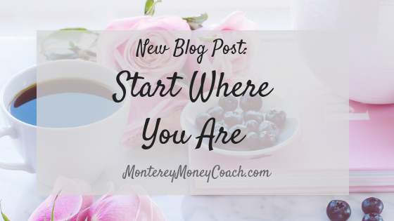 Start Where You Are - Blog Post